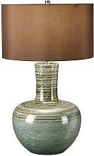 Elstead Barnsbury - 1 Light Table Lamp Green, E27