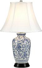 Elstead Blue G Jar Blue 1 Light Table Lamp with