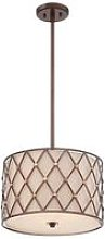 Elstead Brown Lattice - 3 Light Medium Ceiling