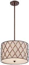 Elstead Brown Lattice - 3 Light Medium Ceiling