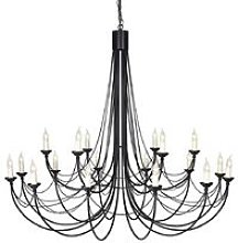 Elstead Carisbrooke - 18 Light Candle Chandelier