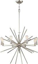 Elstead Carnegie - 8 Light Chandelier Silver