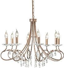 Elstead Christina - 8 Light Chandelier Silver,