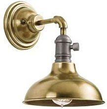 Elstead Cobson - 1 Light Indoor Wall Light Brass,