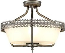 Elstead Crown - 3 Light Semi Flush Ceiling Pendant