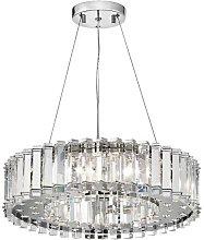 Elstead Crystal Skye - 8 Light Chandelier Chrome