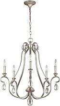 Elstead Dewitt - 5 Light Chandelier Silver Finish,