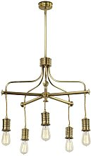 Elstead Douille - 5 Light Chandelier Brass Finish,