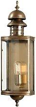 Elstead Downing Street - 1 Light Outdoor Wall Lantern Light Solid Brass IP44, E27