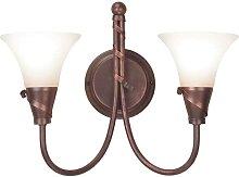 Elstead Emily - 2 Light Indoor Wall Light Copper,