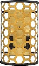 Elstead Felix - 2 Light Indoor Wall Light Gold, E14