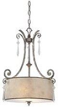 Elstead Kendra - 2 Light Ceiling Pendant Mottled