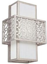 Elstead Kenney - 1 Light Indoor Wall Light Silver,