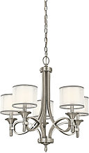 Elstead Lacey 5 Light Chandelier, Antique Pewter,
