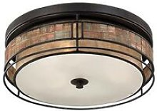 Elstead Laguna - 3 Light Large Flush Mount Ceiling
