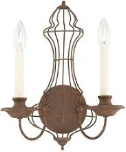 Elstead Laila - 2 Light Indoor Candle Wall Light
