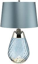 Elstead Lena 2 Light Small Blue Table Lamp,