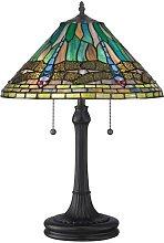 Elstead Lighting - Elstead - 2 Light Tiffany Table