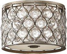 Elstead Lucia - 2 Light Flush Ceiling Light