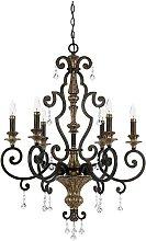 Elstead Marquette - 6 Light Chandelier Antique