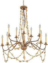 Elstead Mosaic - 10 Light Chandelier Gold Finish,