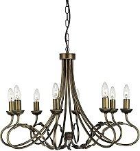 Elstead Olivia - 8 Light Chandelier Black, Gold