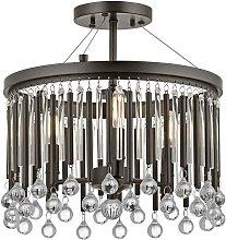 Elstead Piper - 3 Light Semi Flush Ceiling Light