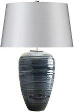Elstead Poseidon - 1 Light Table Lamp - Blue Glaze