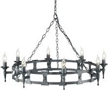 Elstead Saxon - 8 Light Chandelier Black, Silver