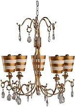 Elstead Tivoli - 5 Light Multi Arm Chandelier Gold