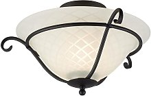 Elstead Torchiere - 1 Light Flush Ceiling Light