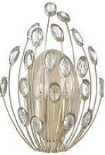 Elstead Tulah - 2 Light Indoor Wall Light Silver,