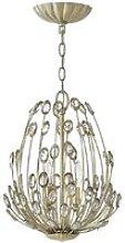 Elstead Tulah - 3 Light Ceiling Pendant Silver, E14