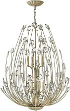 Elstead Tulah - 8 Light Chandelier Silver Finish,