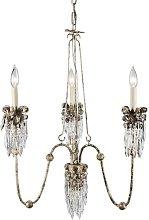 Elstead Venetian - Chandelier 3 Light Beige, Gold