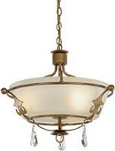 Elstead Windsor - 3 Light Semi Flush Light - Gold