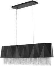 Elstead Zuma 6 Light Pendant, Satin Black, Silver,