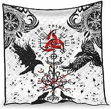 Elucassi Summer Quilts Viking Muninn Crow