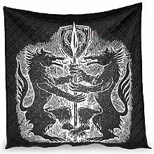 Elucassi Summer Quilts Viking Odin Wolves