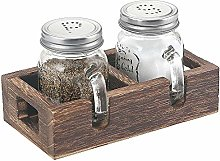 Elwiya Farmhouse Mason Jar Salt and Pepper Shakers