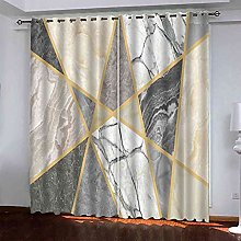 ELXQNA Pair of Blackout Thermal Insulated Marble