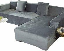 ELYSYSRL Velvet Sofa Slipcover For L-Shaped Sofa