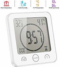 emate LCD Digital Temperature Humidity Clock,