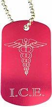 Emblems-Gifts Personalised I.C.E. Medical Alert ID