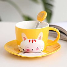 Embossed Animal Fortune Cat Coffee Cup Dish