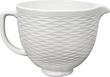 Embossed Ceramic Bowl White