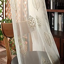 Embroidery Curtains Transparent Pencil Pleat Soft