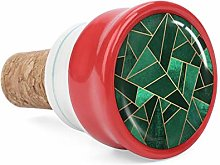 Emerald and Copper Wine Cork Wine Bottle Stoppers