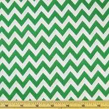 Emerald Green Printed Polycotton Fabric CHEVRON