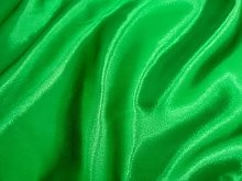 Emerald Green Silky Satin Fabric by The Metre